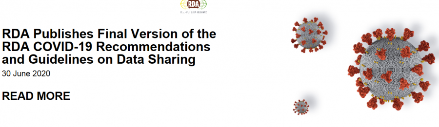 Stire 2 Iulie 2020 RDA final guide on data sharing Covid 19