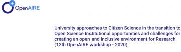 Stire 20 Noiembrie 2020 EUA Citizen science