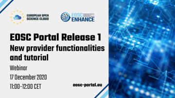 Stire 10 Decembrie 2020 eosc portal enhance webinar new provider
